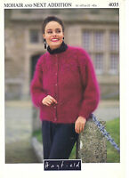 Hayfield Mohair and Next Addition KNITTING PATTERN lady's cardigan 4035