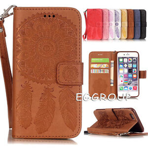 new concept a1d46 b1e83 Details about For iPhone 8 / 8 Plus Dream Catcher Folio Card Wallet Leather  Stand Case Cover