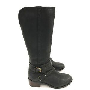 UGGS-Black-Tall-Casual-Stud-Detail-Smart-Winter-Boots-Ladies-UK-5-5-EU-38-261366