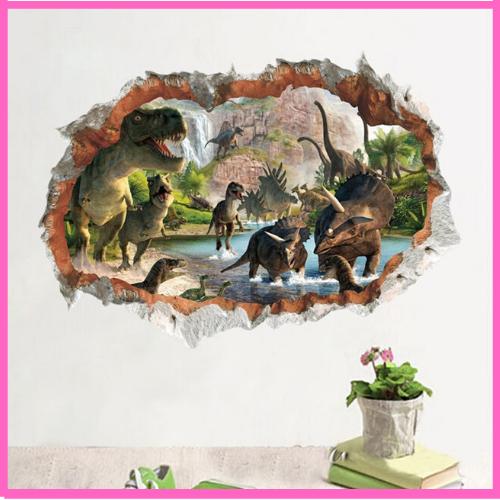 3D Vivid Jurassic Dinosaur Wall Sticker Room Decoration Cartoon Stickers Style 7