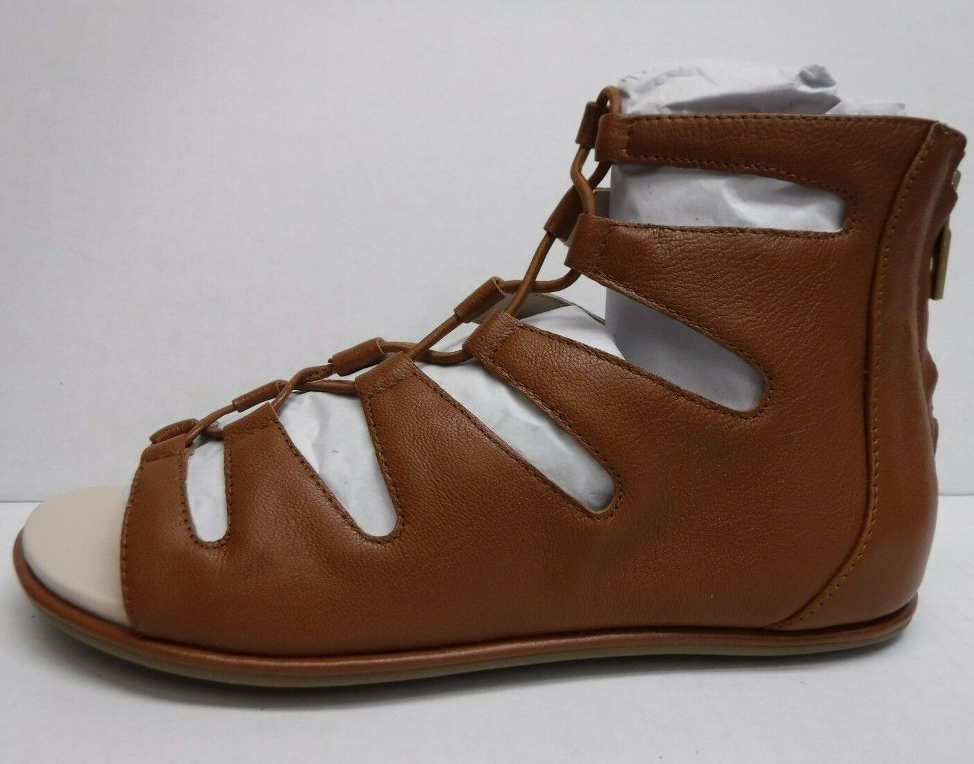 Kenneth Cole New York Size 6.5 Brown Leather Gladiator Sandals New Womens shoes