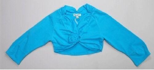 NWT ELIANE /& LENA Paris PLURIELLE girl/'s Turquoise top Bolero sz 5y 6y 10y 45G03