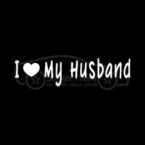 I-LOVE-MY-HUSBAND-Sticker-Family-Vinyl-Decal-Man-Wife-Woman-Cute-Heart-Hubby-S2