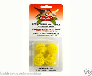 Perky-Pet-4-Yellow-Plastic-Replacement-Bee-Guards-for-Hummingbird-Feeders-205-Y