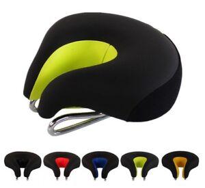 U-Stile-Ergonomico-Noseless-MTB-Sella-Della-Bicicletta-In-Pelle-Confortevole