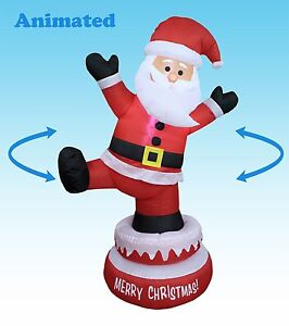 5 foot tall led animated christmas inflatable santa claus for 4 foot santa claus decoration