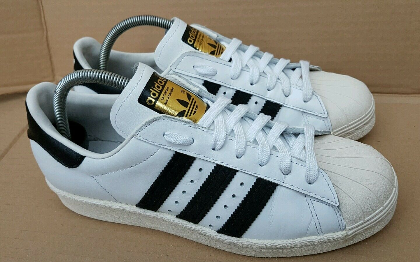 ADIDAS SUPERSTAR 80's LIMITED EDITION TRAINERS SIZE 5 Noir blanc  IMMACULATE