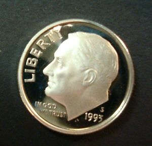 1993-S GEM PROOF ROOSEVELT DIME ULTRA CAMEO SEE MY OTHER LISTINGS AND SAVE