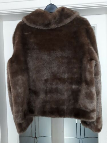 Size Used 16 Fur Vintage Coat Faux 0wqxRt