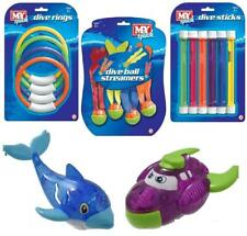 Underwater Dive Ring Sticks Light Up Toys Weighted Kids Beach Swimming Pool Game