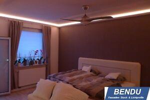 Details zu 30m Montageset LED Stuckleisten indirekte Beleuchtung Decke  Profile Schlafzimmer