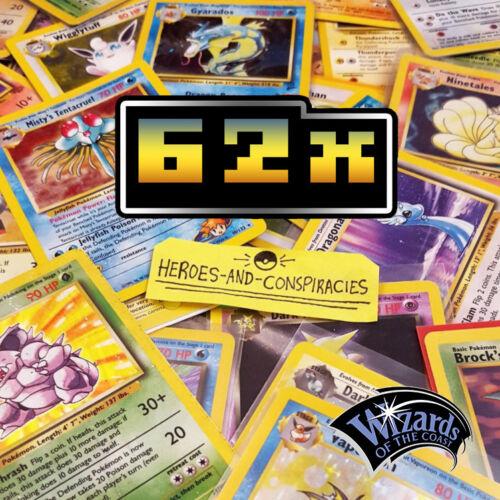 WotC GEN 1 + 2 62x Pokemon Card NO DUPLICATES VINTAGE LOT BULK+ RARE