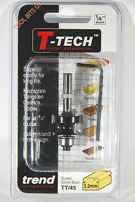 Trend C130 x 1//4 TCT Bearing Guided Corner Bead 4.8mm Radius TREC13014TC