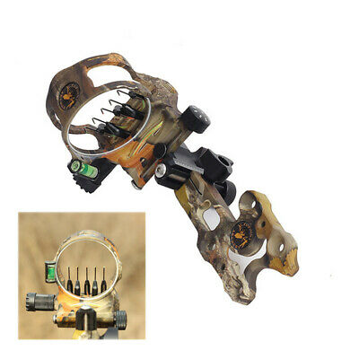 Micro Adjust 5 Pin .019/'/' Archery Compound Bow Sight for Left /& Right Hand