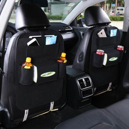 Incorporado Auto Organizador Bolsa de almacenamiento de varios bolsillos Bolsa de respaldo del asiento de coche