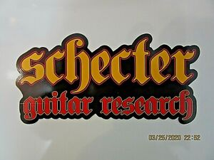 SCHECTER ELECTRIC GUITAR BASS DECAL CASE RACK BUMPER STICKER NICE NEW VERY RARE