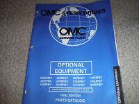1998 Omc Volvo Stern Drive Parts Manual Optional Equipment Manual