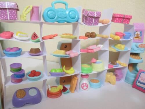 Littlest Pet Shop Lot Grocery Store Food Accessories 20 Random  Authentic Lps