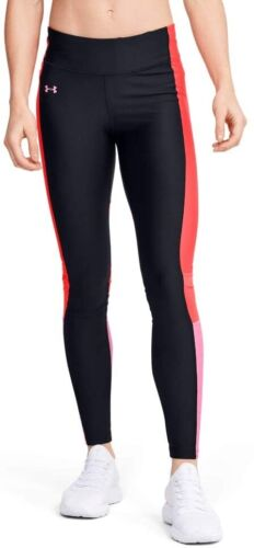 Under Armour HeatGear Perf Inset Graphic Womens Long Training Tights Black