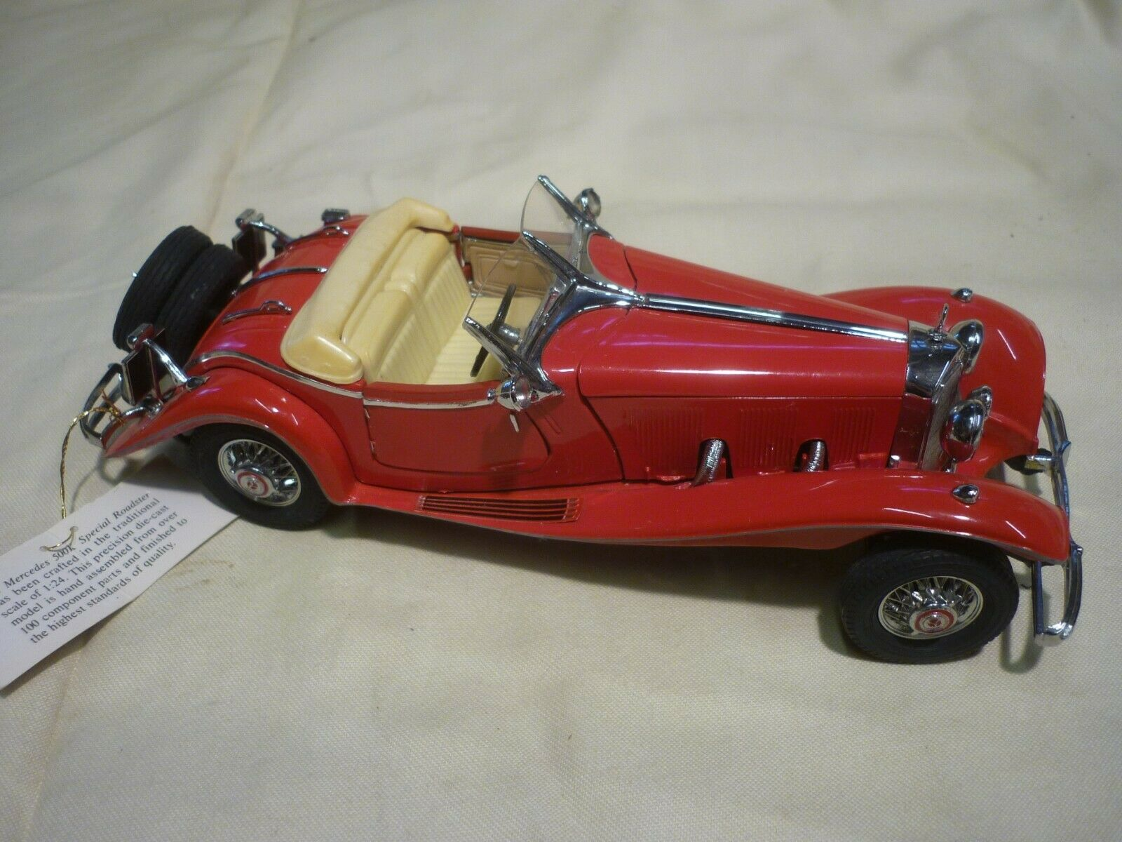 Franklin mint  1935 Mercedes Benz 500K  Special Roadster,  no box, no paperwork,
