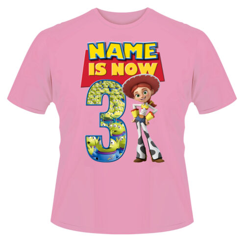 Toy Story Jessie Personalised Boys Girls T-Shirt Age 3 Ideal Gift//Present