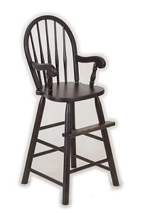 Image Is Loading Oak Bow Back Youth Booster High Chair Child