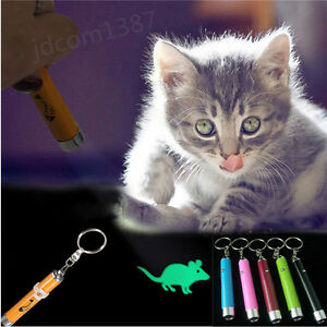 Pet Play Funny Cat Toy LED Light Laser Pointer Pen With Bright Mouse Animation