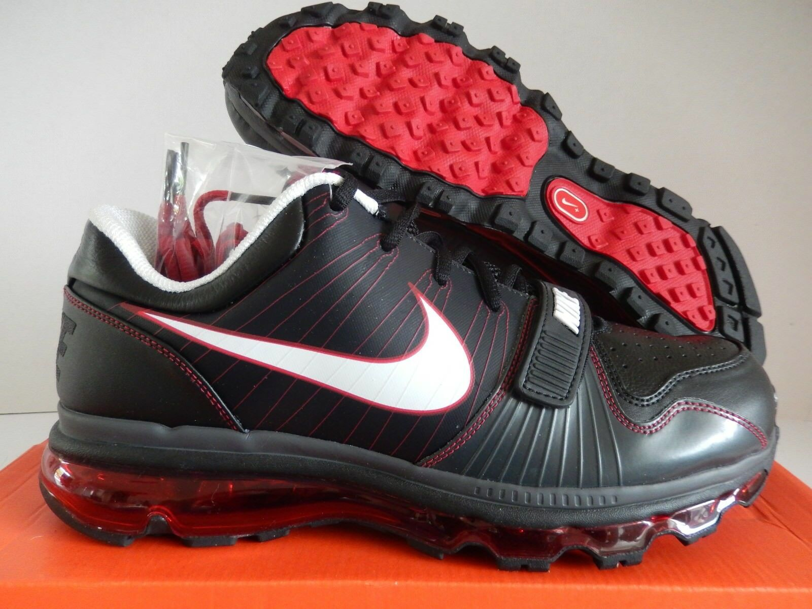 NIKE AIR MAX TR 1 + LOW 2009 2013 2017 360 BLACK-VAR RED SZ 12 [409717-016]