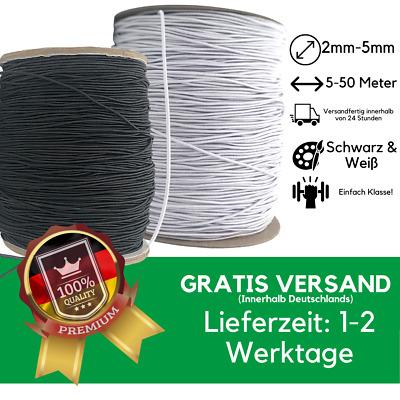 Gummilitze 2 mm weiß Gummikordel Gummiband 5 Meter Rundgummi EUR 0,99//m