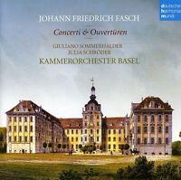 Julia Schr Der, Kamm - Johann Friedrich Fasch: Concerti & Ouver [new Cd]