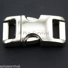 """3/8"""" Metal Curved Top Quick Release Buckle for Paracord Survival Bracelets"""