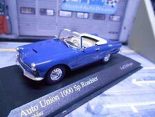 DKW AUDI AUTO UNION 1000SP 1000 Sp Roadster Cabrio blau 1958 Minichamps 1:43