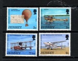 JERSEY-MNH-UMM-STAMP-SET-1973-SG-89-92-AVIATION-HISTORY-1ST-SERIES