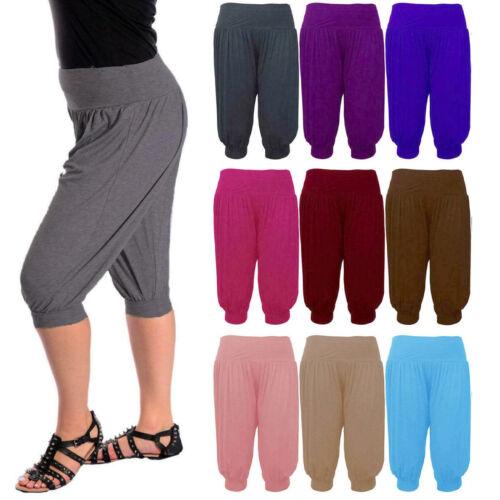 Womens 3//4 Ali Baba Hareem Baggy Pants Plus Trousers Cropped Shorts Leggings