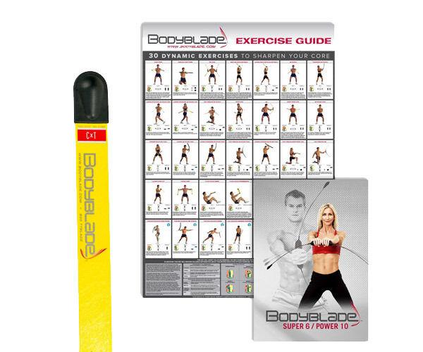 Bodyblade Cxt - Gelb Fitness Blade - & Beinhaltet Workout DVD & - Wandtafel Neu 23c7f5