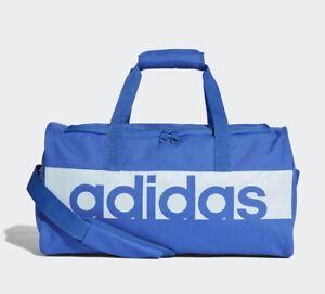 Detalles de Adidas Linear Performance Petate Entrenamiento Gimnasio Deporte Viaje Bolso Pequeño Azul ver título original