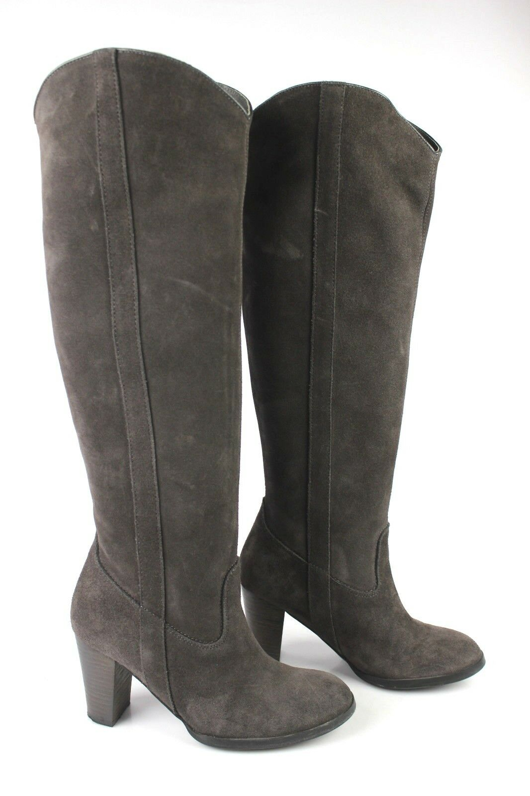 Boots High ANDRE Suede Grey taupe T 37 VERY GOOD CONDITION