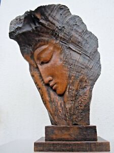 Sculpture Profil Femme Stylisée Robert Rapp Xuyff3am-10113725-946562031