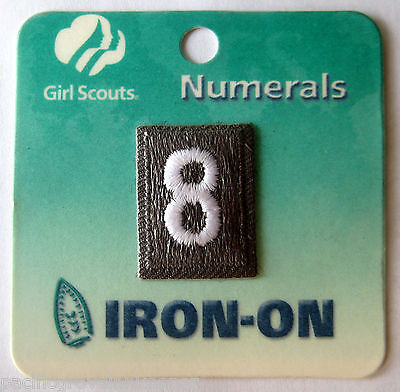 Girl Scout Troop Numbers Patches Brown Brownies Numerals New