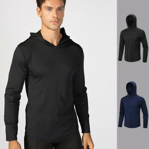 Men-039-s-Sports-Hoodie-Hooded-Running-Basketball-Gym-Sweatshirt-Tops-Long-Sleeve