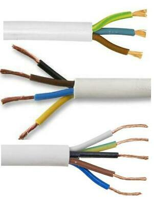 Sold per M 3093Y Heat Resistant 3 Core 2.5mm White Flexible Cable