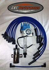 Pontiac 350 389 400 455 Small Cap Blue Hei Distributor 45k Chrome Coil Wires