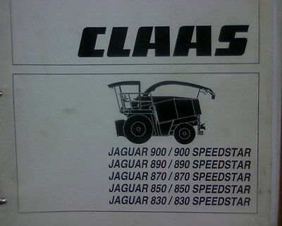 Owners Manual Book Perfect In Workmanship Media Persevering Claas Jaguar 900 890 870 850 830 Speedster Forage Harvester