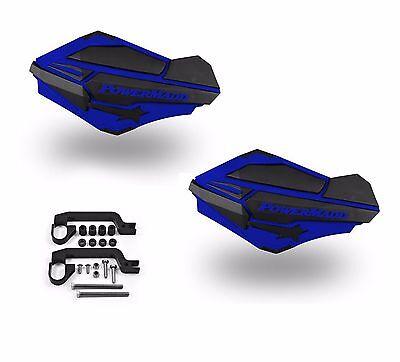 Powermadd Sentinel LED Handguards Guards Blue Black Mount Kit All Sport ATV/'s