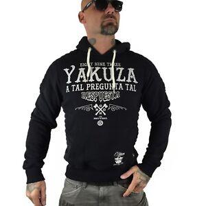 Yakuza Hob respuesta schwarz 8029 uomini Hoodie Nero wwErxUFvq