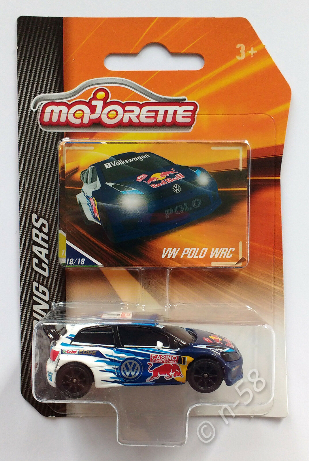 Majorette Racing Cars  VW POLO WRC  NEW OVP MINT BOXED, Motorsport Red Bull