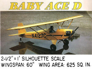 Details about Model Airplane Plans (RC): Corben Baby Ace (Model D) 60