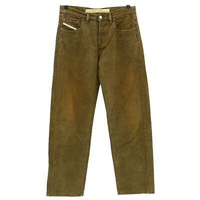 #4021 Diesel Jeans Uomo Pantaloni Cheyenne 702 Gabardine Darkbrown Marrone 31/32- 2019 Ultima Vendita Online Stile 50%