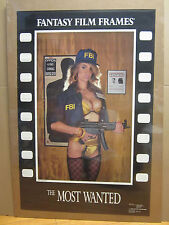 """vintage """" The Most wanted"""" Poster fantasy film frames 1990 5307"""