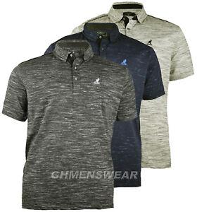 Neuf-Hommes-Larges-Kingsize-Kangol-Marne-T-Shirt-Polo-Taille-2XL-3XL-4XL-5XL